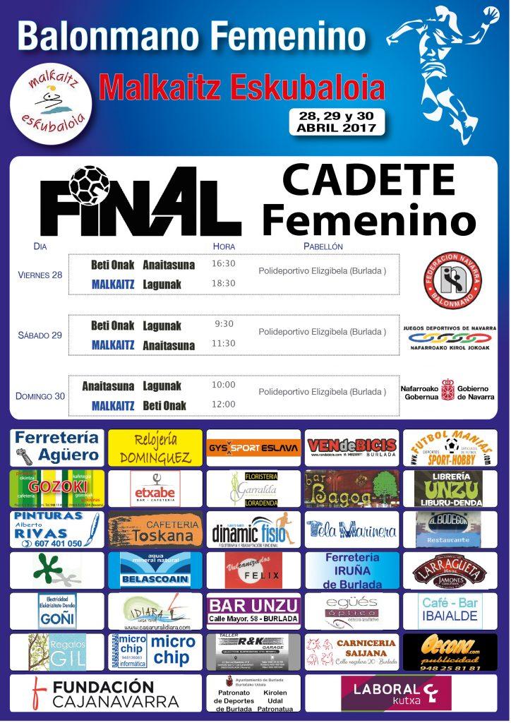 Cartel Final4 Cadete-01
