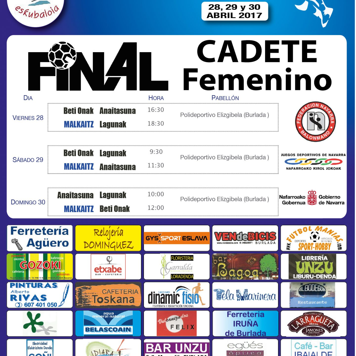 Cartel Final4 Cadete
