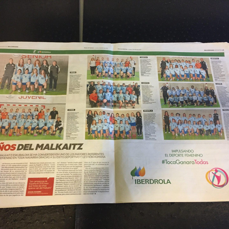 Malkaitz en Diario de Noticias