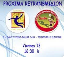 Partido en Streaming. Sant Vicenç – Elgoibar