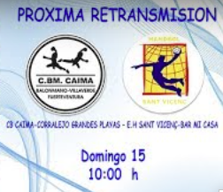 Partido en Streaming. Caima – Sant Vicenç