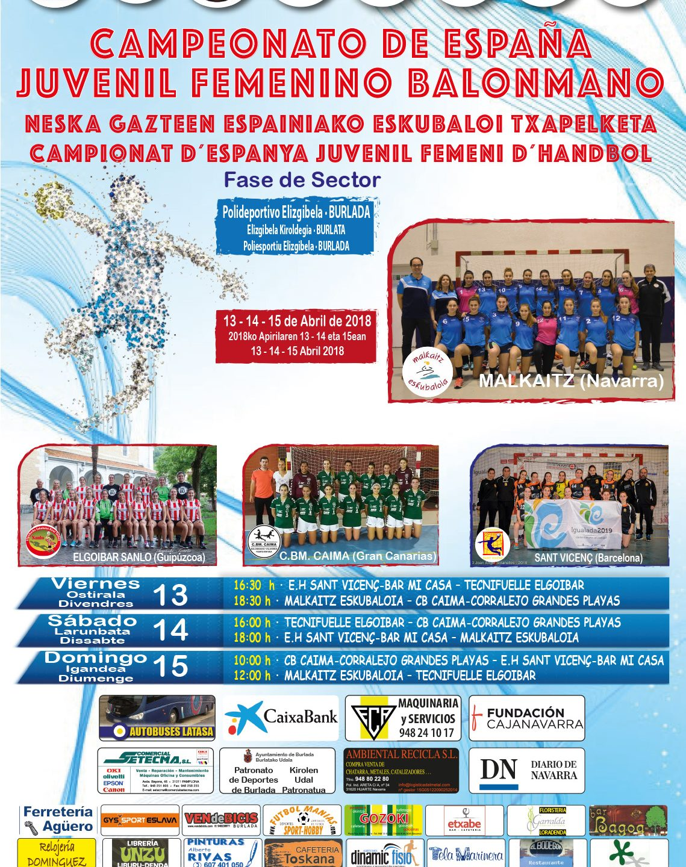 Sector D – BURLADA Campeonato Estatal Juvenil Femenino